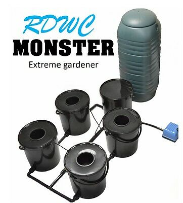 4 Pot Rdwc Hydroponics Growing System 21L Deep Water Culture Bubbler Oxy Iws Dwc