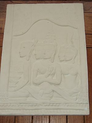 ANGKOR WAT TEMPLE RELIEF in Plaster Cast.  Good Condition.  Origin Unknown.