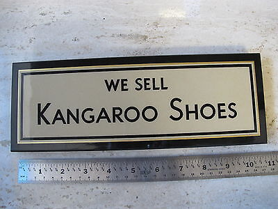 Vintage KangaROO Shoes Sign Front Counter or Wall Advertising Plaque