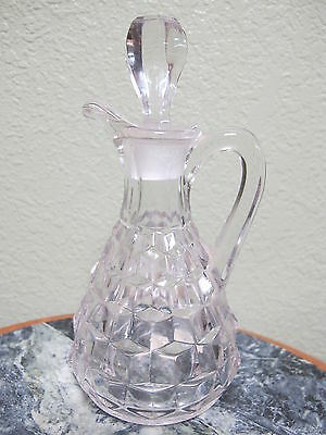 Vintage EAPG Fostoria American Clear Crystal Cruet with Matching Stopper
