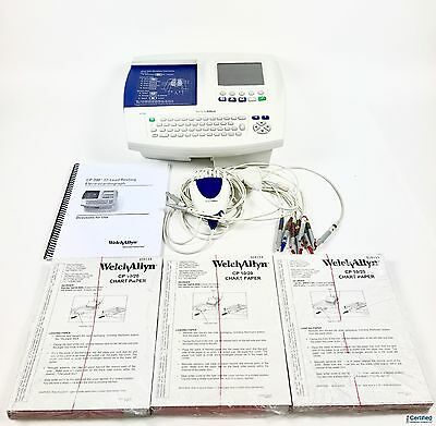 Welch Allyn CP200 Interpretive 12-Lead Multichannel EKG COMPLETE SYSTEM