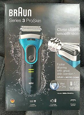 Braun Series 3 ProSkin 3080s Wet and Dry Electric Shaver for Men Rechargeable