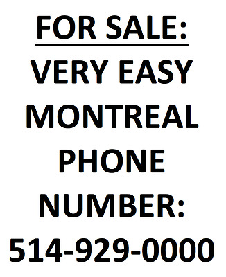 Sim With Very Easy  Montreal Vanity  Phone Number 514