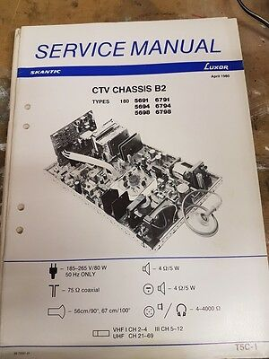 service manual for luxor chassis b2
