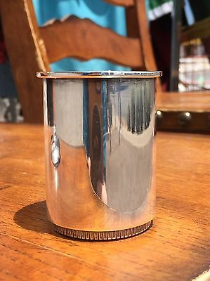 H. Nils Denmark Sterling Silver Cup Ash Cigarette Mid Century