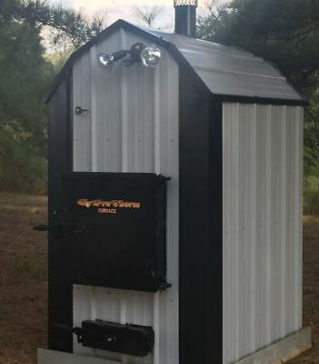 RESIDENTIAL Outdoor COAL Boiler Furnace Outside Forced Air Hydronic w/ASH PAN!