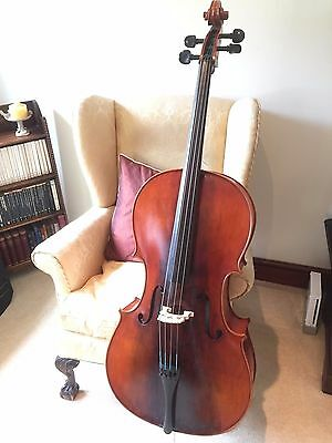 Concertante Antique finished Cello outfit with Bow, Case & Accessories