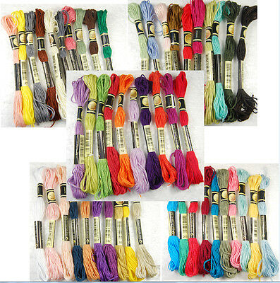 50x Anchor Cross Stitch Bead Cotton Blend Embroidery Skein Floss Sewing Thread