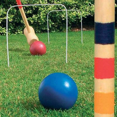 Garden Games WOODEN Croquet Set Toys OUTDOOR Lawn Family Activity For All Ages