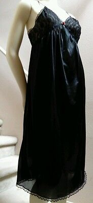 Vintage Black Cachet Peignoir Sheer Lacy Billowing Sleeves Cachet Small Sears
