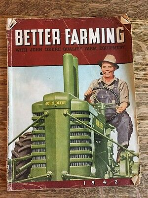 "Vintage ""Better Farming for 1942"" Magazine John Deere Advertising"