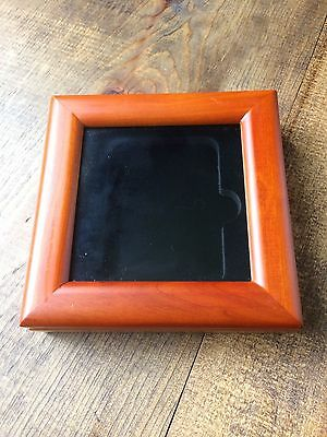New Coin Collection Box-Wood-Glass Window-Holds One Graded Coin-Display-No Coin