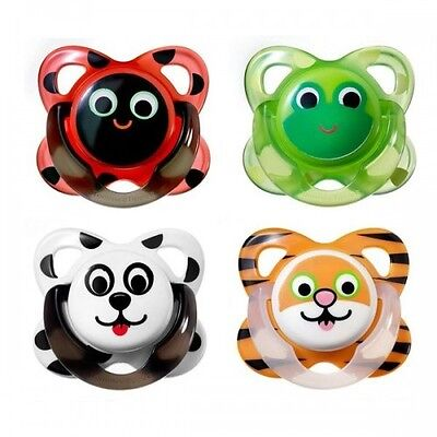 Tommee Tippee Funky Face orthodontic latex soothers 6-12m  boys/girls  bpa free