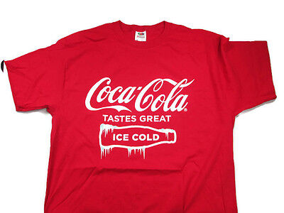 Coca-Cola  Tastes Great Ice Cold Tee T-shirt X-Large XL - BRAND NEW
