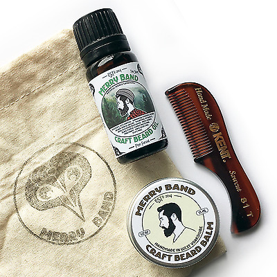 Beard Grooming Kit   Oil   Balm   Kent Comb   Gift Set   Fathers Day