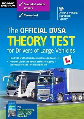 Dvsa Theory Test Dvd-Rom Cd Q&a For Lorry And Bus Drivers Lgv / Pcv / Hgv 2017