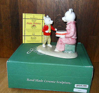Beswick, 'happy Birthday Rupert', Ltd/ed 0149/500, Boxed,cert