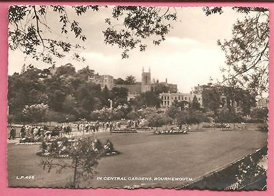 In Central Gardens, Bournemouth, Dorset postcard. Real Photo.