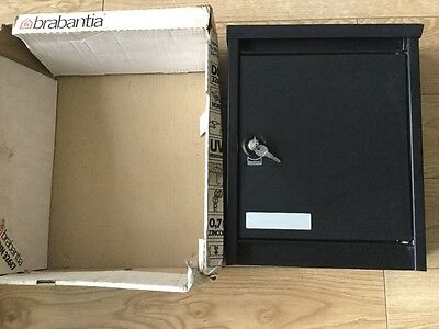 Large Brabantia Black Letterbox Post Lockable