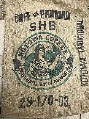 Burlap coffee sack from Panama