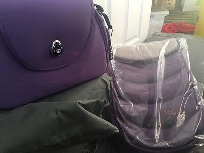 Egg Stroller Footmuff And Bag Gothic Purple   Brand New