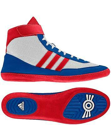 Adidas Combat Speed 4 wrestling shoe - Red/White/Blue