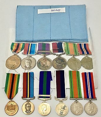 RARE Authentic Rhodesia Group Medals Sen. Tech. Mills Collection w/ Ribbon