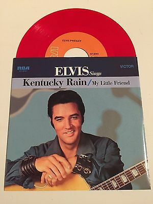 "Elvis Presley 7"" Red Vinyl (Kentucky Rain/my Little Friend) *unplayed*"