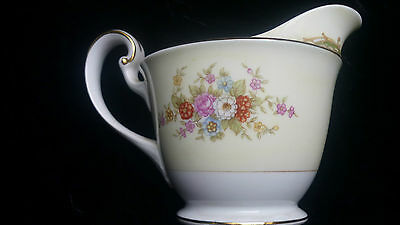 Pretty Noritake China Floral Design Milk Jug / Creamer Unused