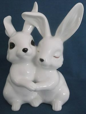 Royal Osborne Pair Of Long Eared Rabbits Hares Figurine Mint Condition