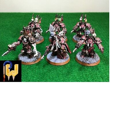 Warhammer 40K Army Chaos Space Marines Terminators Squad Painted