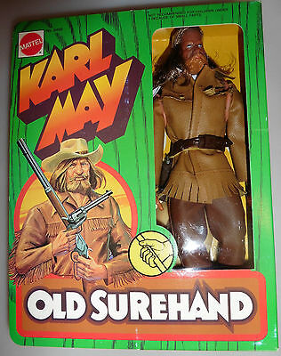 MATTEL No.9497 Karl May Trapper Figur Old Surehand Actionfigur-Spielzeug Neu&Ovp