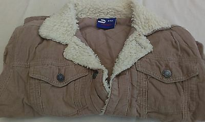 Immaculate Condition-Vintage-Jean Style Beige/Cream Corduroy Jacket-Age 8/9 Yrs