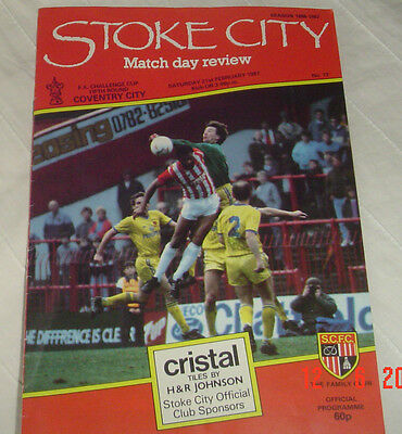 Stoke City Coventry City Fifth Round Cup 1987 Programme