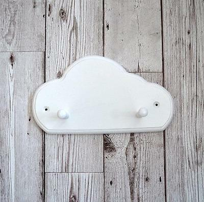 Wooden Cloud Coat Peg with Two Hooks