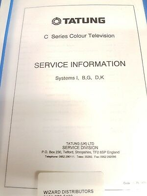 service manual for tatung systems i,b,g,d,k