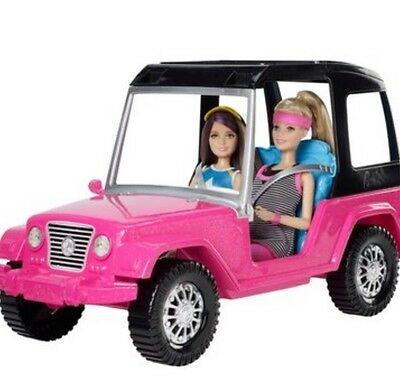Barbie and Skipper with Jeep - New