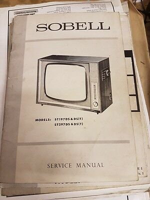 service manual for sobell models st197ds and st297ds