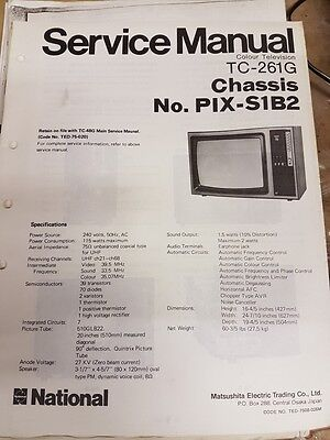 service manual for panasonic tc-261g