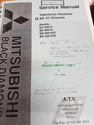 service manual for mitsubishi ak 37 chassis