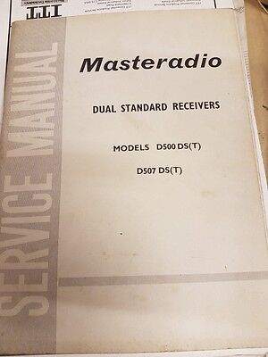 service manual for masteradio models d500ds and d507