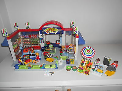 Playmobil 3200 Supermarket, 3201 Checkout, 3202 Greengrocer, Deli counter, Shop