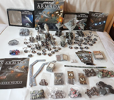 Star Wars: Armada BIG BUNDLE:17 Expansions + Painted Fighters + Extras *MINT*