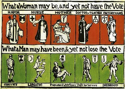 Great Suffragette Postcard - 'What A Man Can Be...'