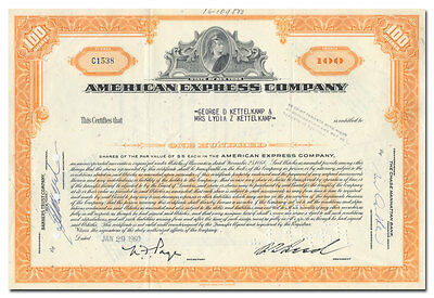 American Express Company Stock Certificate (Centurion Vignette)