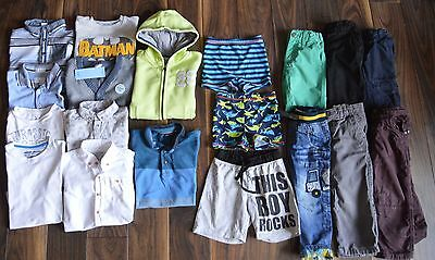 Boys Clothes Bundle 2-3 Years Hoodie Polos T-shirt Shorts Jeans Good!