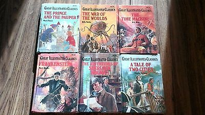 Lot of 6 books: War of the Worlds, Time Machine, Tale of Two Cities,Frankenstein