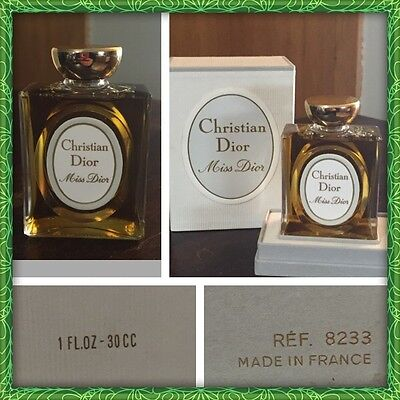 Vintage 1970's Miss Dior - Christian Dior - LARGE 30cc (1 Ounce)
