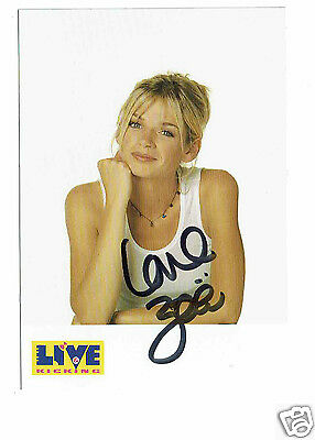 Zoe Ball Television Presenter  Hand  Signed Alive & Kickin Photograph 6 x 4