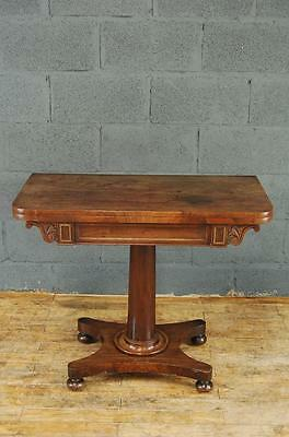 Antiqe Victorian Mahogany Tea/Card Table